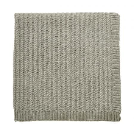 Navah Knitted Throw, Sage