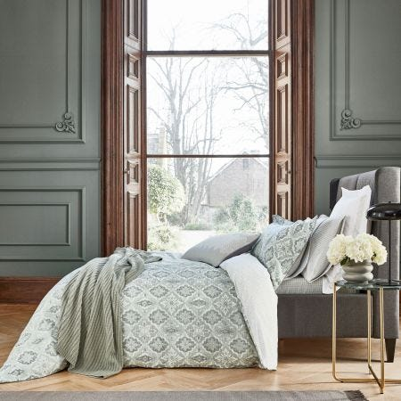 Navah Sage Green Bedding