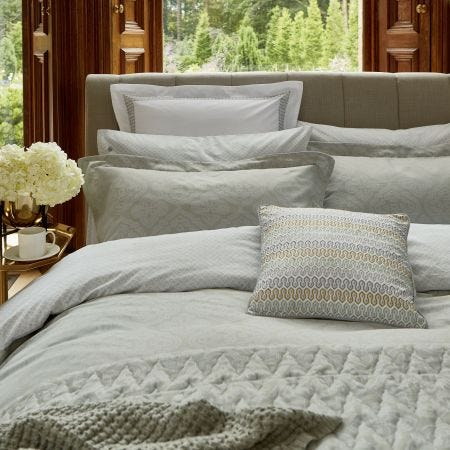 Ravi Sage Oxford Bedding.
