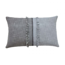 Saffi Cushion 50cm x 30cm, Silver