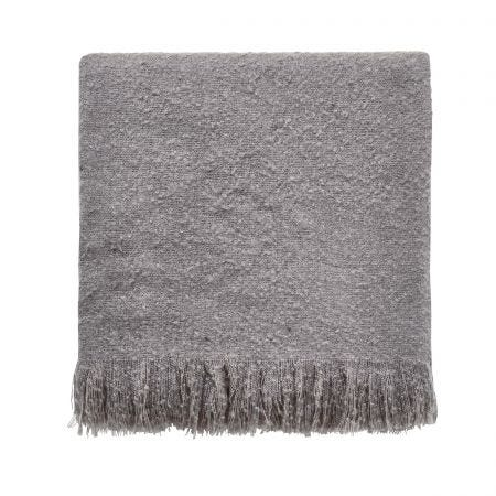 Saffi Woven Throw, Silver