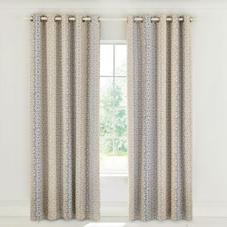Satara Grey & Chartreuse Lined Curtains