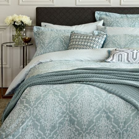 Tabir Green Jacquard Bedding