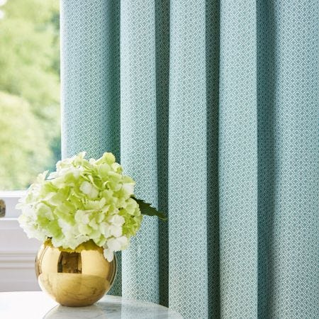 """Zeya Lined Curtains 66"""" x 72"""", Green"""