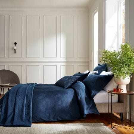 Osaka Navy Blue Bedding