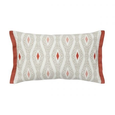Adena Embroided Cushion Rust Front