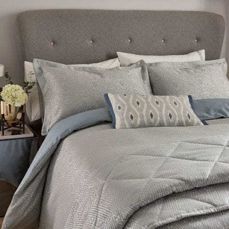 Adena Soft Blue Bedding