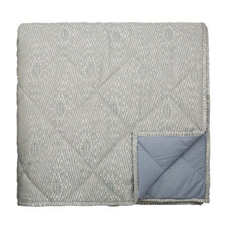 Adena Quilted Throw Soft Blue