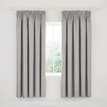 Adena Lined Curtains Soft Blue