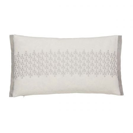 Dita Embroided Parchment Cushion Front