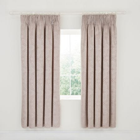 Etana Lined Curtains Soft Pink