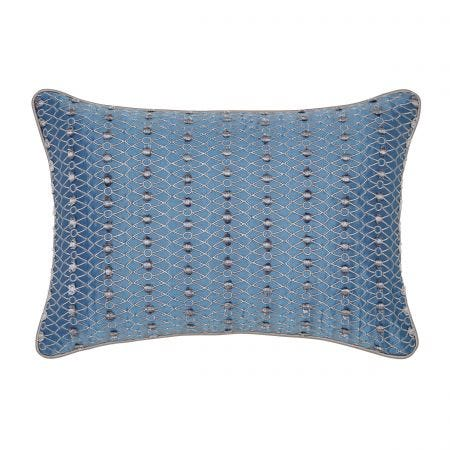 Indira Navy Blue Cushion Front