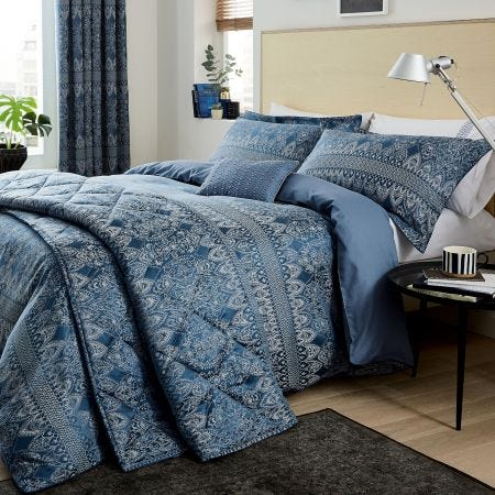 Indira Navy Blue Bedding