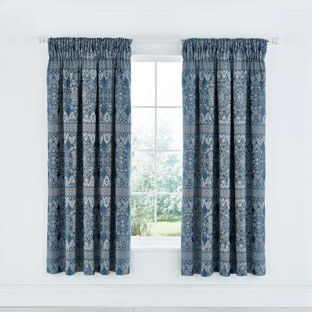 Indira Navy Blue Curtains