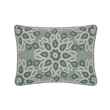 Zahra Duck Egg Cushion Front