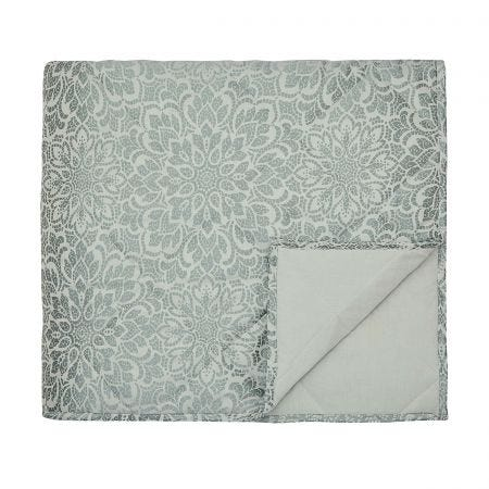 Zahra Duck Egg Quilted Throw