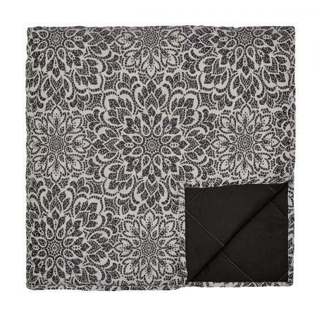 Zahra Kingsize Quilted Throw, Graphite
