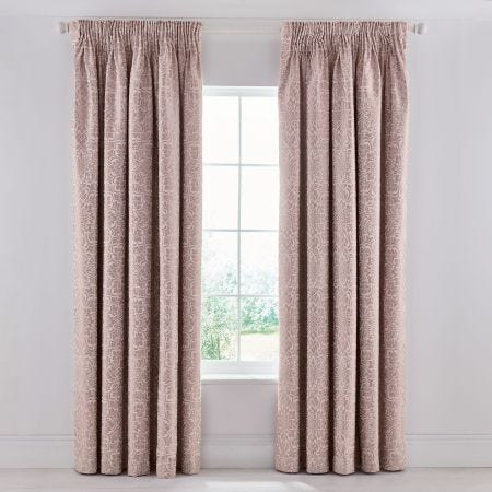 Zahra Rose Lined Curtains