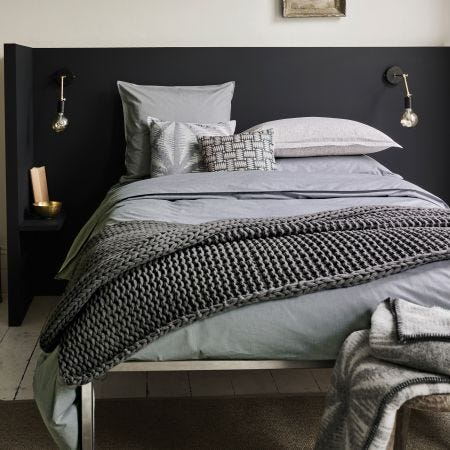 Murmur Chambray Bedding In Dove Grey
