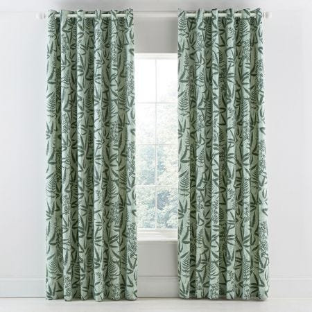 Costa Rica Fern Lined Curtains.