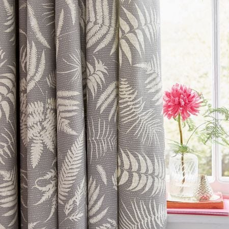 "Espinillo Lined Curtains 90"" x 72"", Grey"