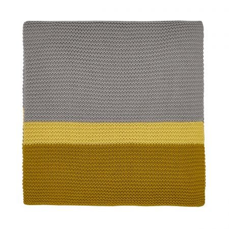 Espinillo Tumeric Knitted Throw