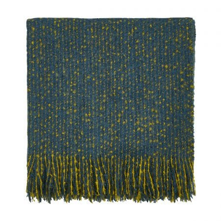 Goosegrass Blue Woven Throw.