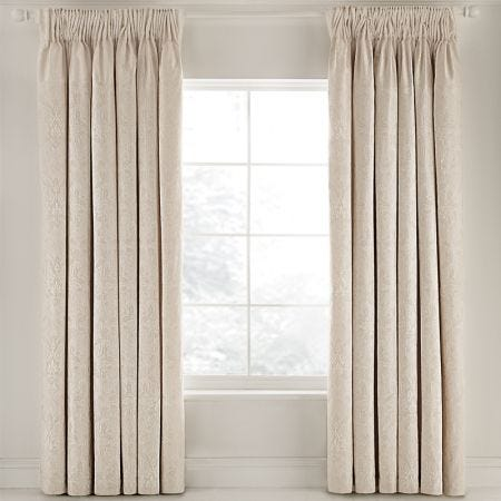 "Gold Jacquard Curtain Set, 66"" x 72"""