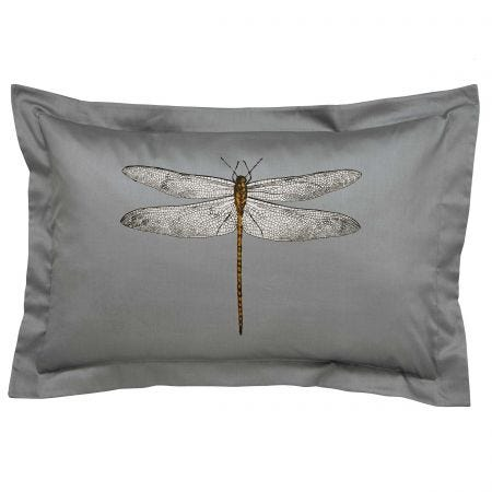 Demoiselle Print Oxford Pillowcase, Graphite