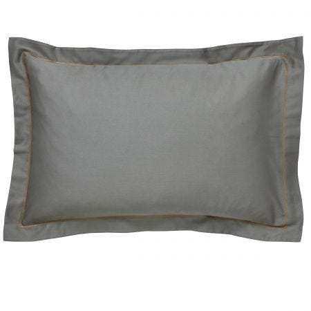 Demoiselle Plain Oxford Pillowcase, Graphite