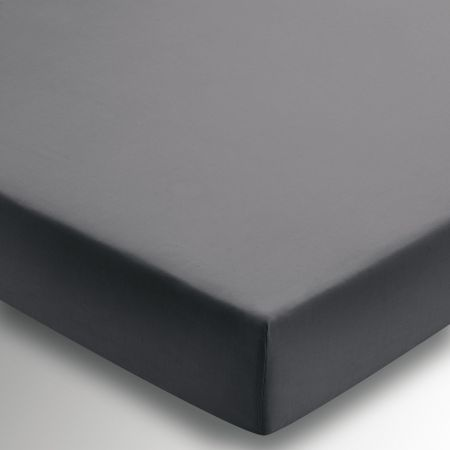 Egyptian Cotton Charcoal Plain Dye Fitted Sheet.
