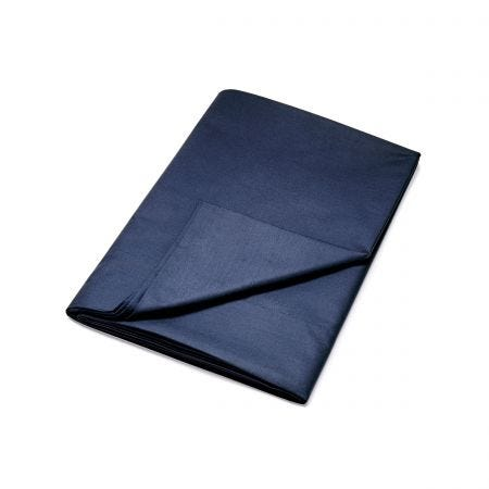 Egyptian Cotton Navy Plain Dye Flat Sheet.