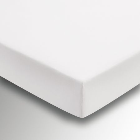 Egyptian Cotton White Plain Dye Fitted Sheet.
