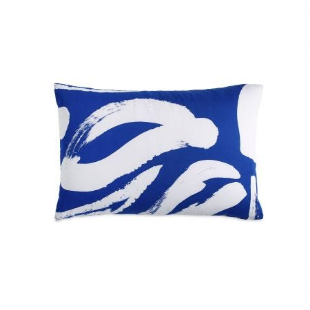 Abstract Floral Blue Housewife Pillowcase