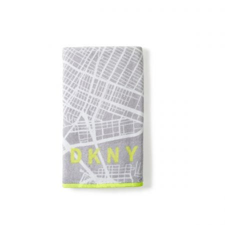 City Map Grey Hand Towel.