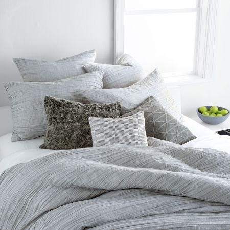 City Pleat Grey Bedding by DKNY