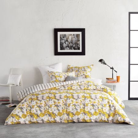 Cutout Yellow Floral Bedding