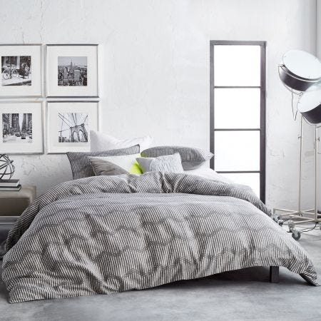 Dot Chevron Grey Zig Zag Bedding