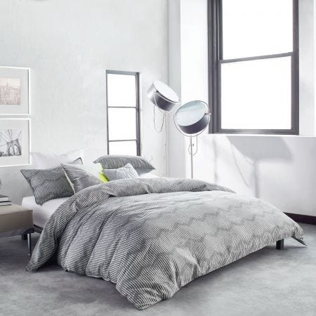 Dot Chevron Grey Bedding.
