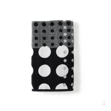 Dot Grey Hand Towel.