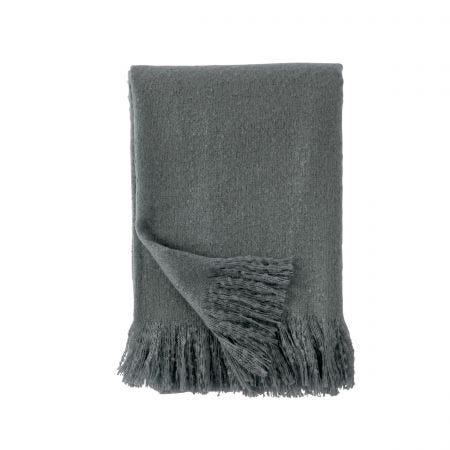 Fuux Mohair Grey Throw.