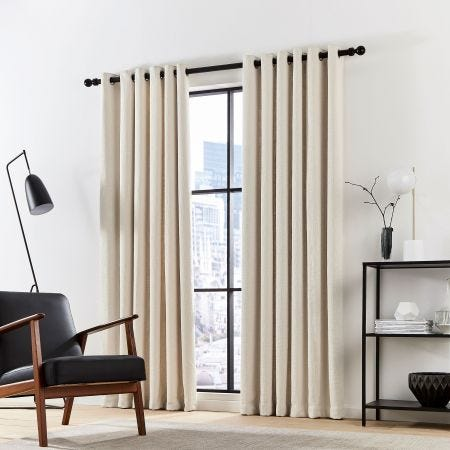 Madison Ecru Lined Curtains