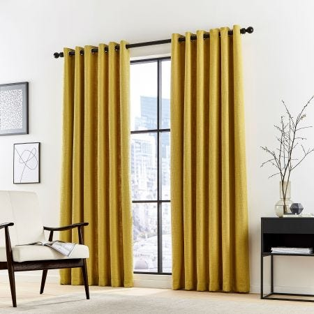 Madison Ochre Lined Curtains