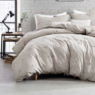 Textured Fringe Bedding Grey
