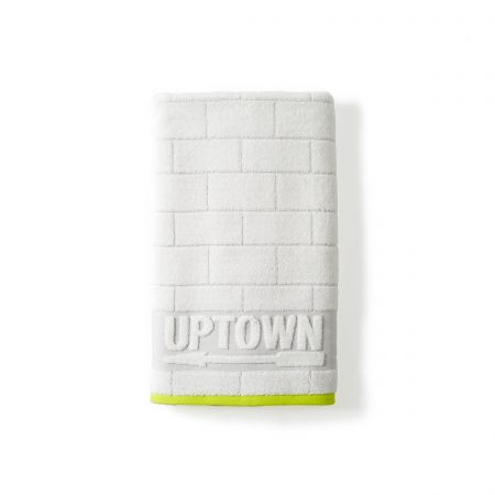 Uptown White Bath Towel.