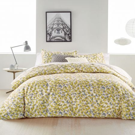 Wild Geo Grey & Ochre Bedding