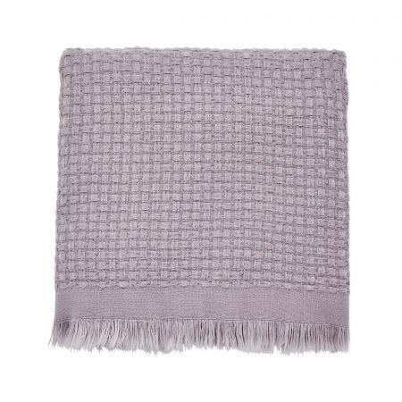 Alisia/Mirabel Woven Throw, Amethyst