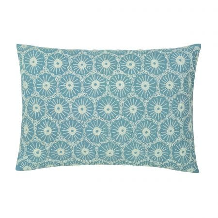 Blue Embroidered Bed Cushion