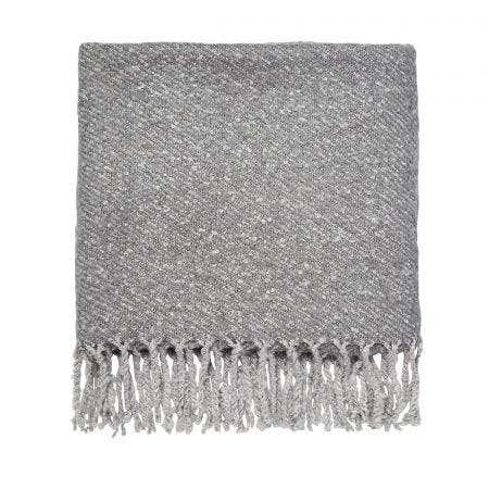 Alisia/Simone Woven Throw, Oxford Grey