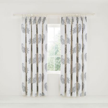 "Simone Lined Curtains 66"" x 72"", Oxford Grey"
